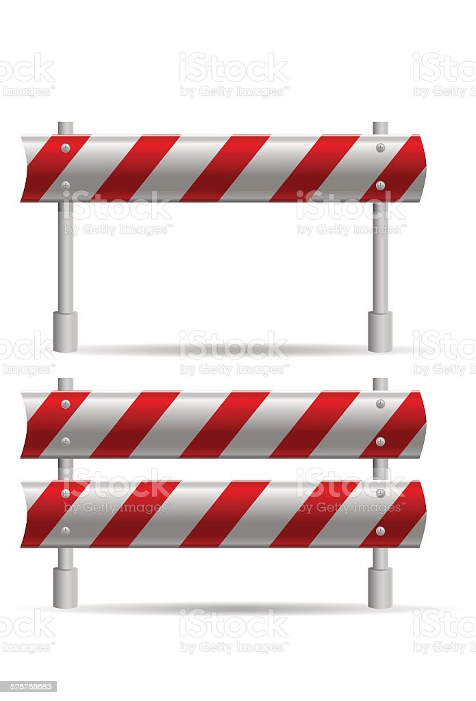 protecting road barrier vector art illustration