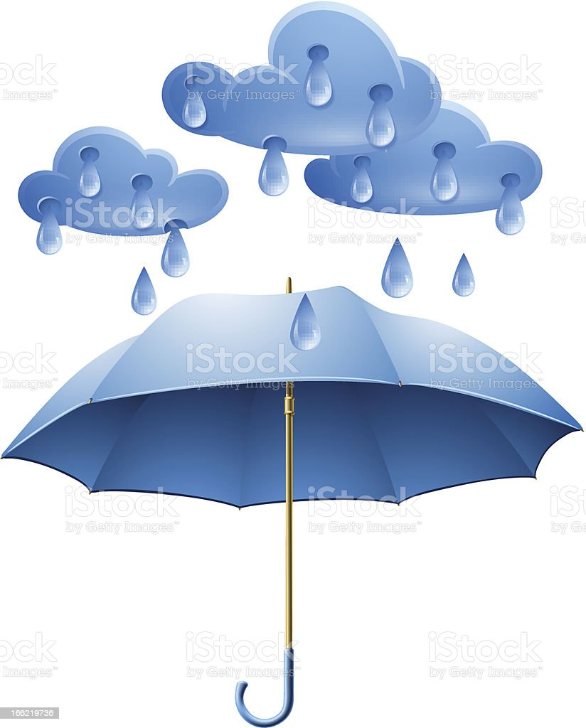 Protection against rain royalty-free stock vector art