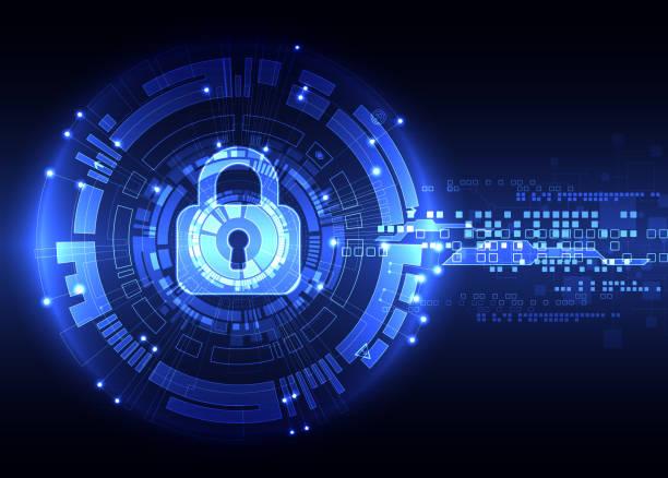 Protection background. Technology security. Protection background. Technology security, encode and decrypt, techno scheme, vector illustration encryption stock illustrations