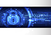 Protection background. Technology security.