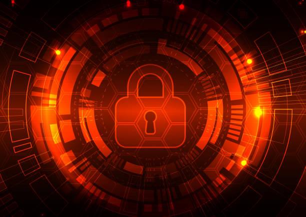 Schutz Hintergrund. Technologie Sicherheit. – Vektorgrafik