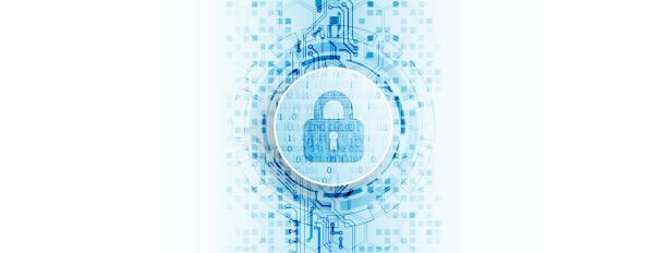 Schutzkonzept. Schützen Sie Mechanismus, System Privatsphäre. – Vektorgrafik