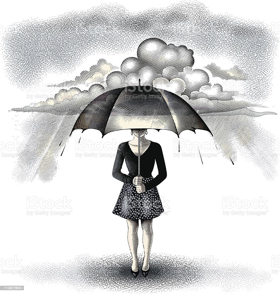 Protection From Storm vector art illustration