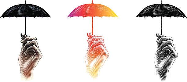 protection from storm - sembolizm akımı stock illustrations
