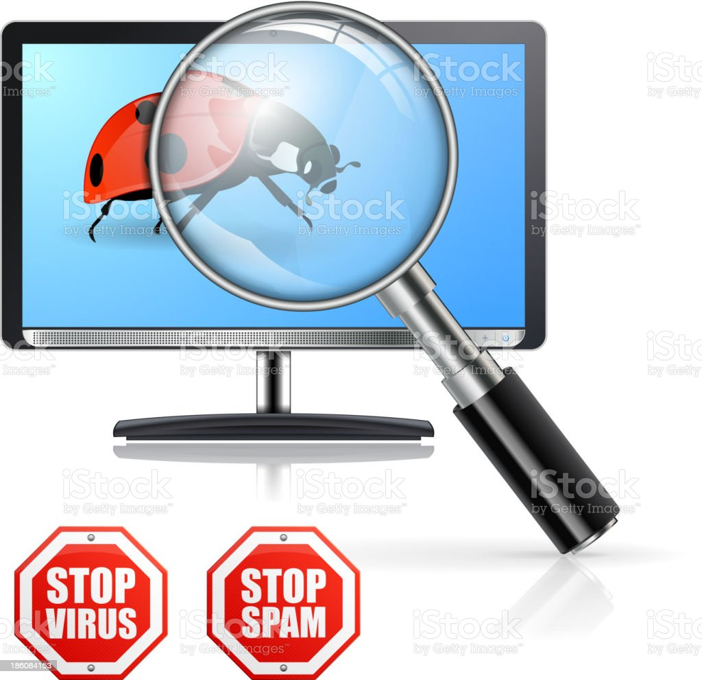 Protection from Viruses and Spam royalty-free stock vector art