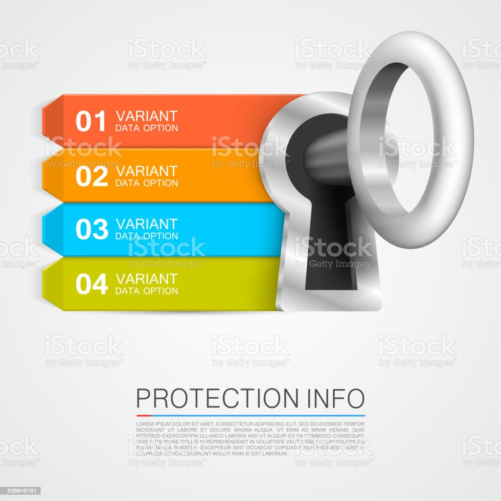 Protection info vector art illustration