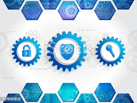 683716072 istock photo Protection mechanism system. Technology security concept. 1070151616