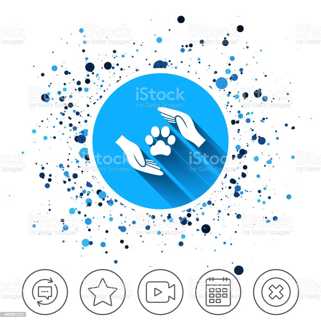 Protection of animals sign icon. Hands. vector art illustration