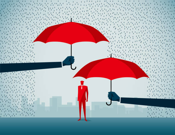 protection commercial illustrator sheltering stock illustrations