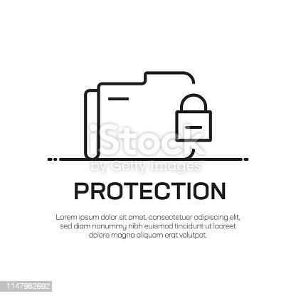 Protection Vector Line Icon - Simple Thin Line Icon, Premium Quality Design Element