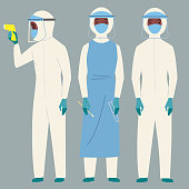 3 Health workers dressed in PPE