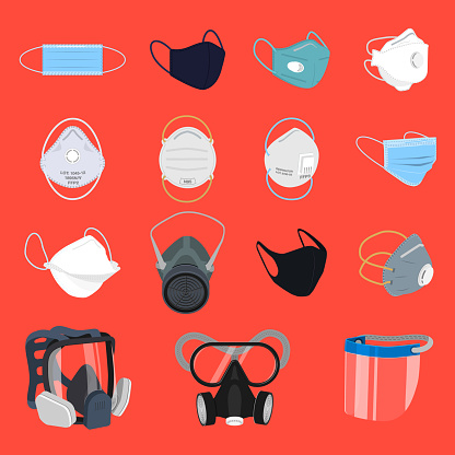 Protective Face Mask and Respirator Set