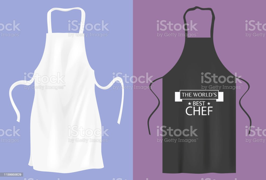 Protective kitchen apron  for cooking or baker Protective kitchen apron  for cooking or baker Apron stock vector
