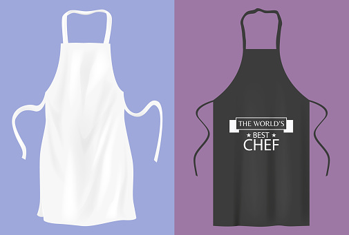 Protective Kitchen Apron For Cooking Or Baker Stock Illustration - Download Image Now