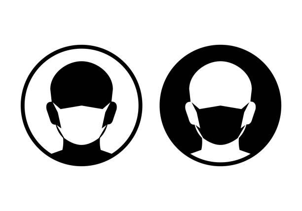 ikony maski ochronnej - mask stock illustrations