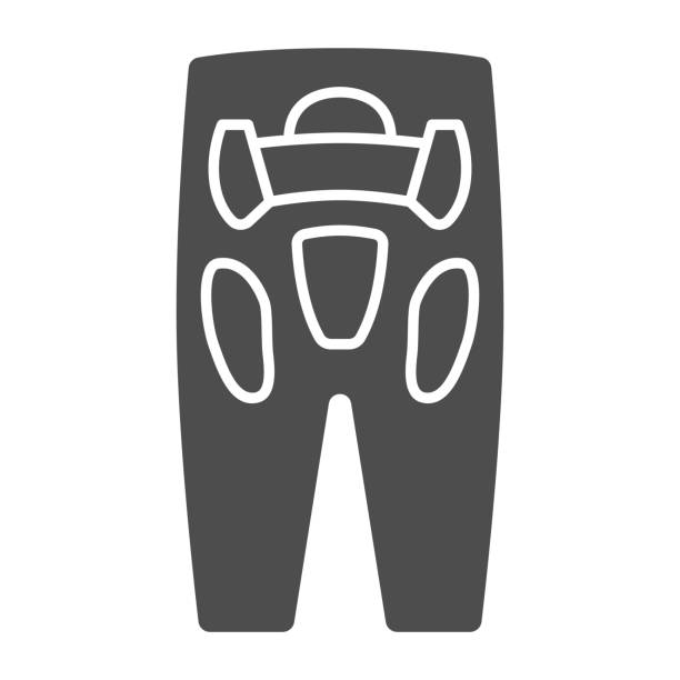 Protective trousers solid icon, World snowboard day concept, Sport pants sign on white background, snowboarding pants icon in glyph style for mobile concept and web design. Vector graphics. Protective trousers solid icon, World snowboard day concept, Sport pants sign on white background, snowboarding pants icon in glyph style for mobile concept and web design. Vector graphics hot pockets stock illustrations