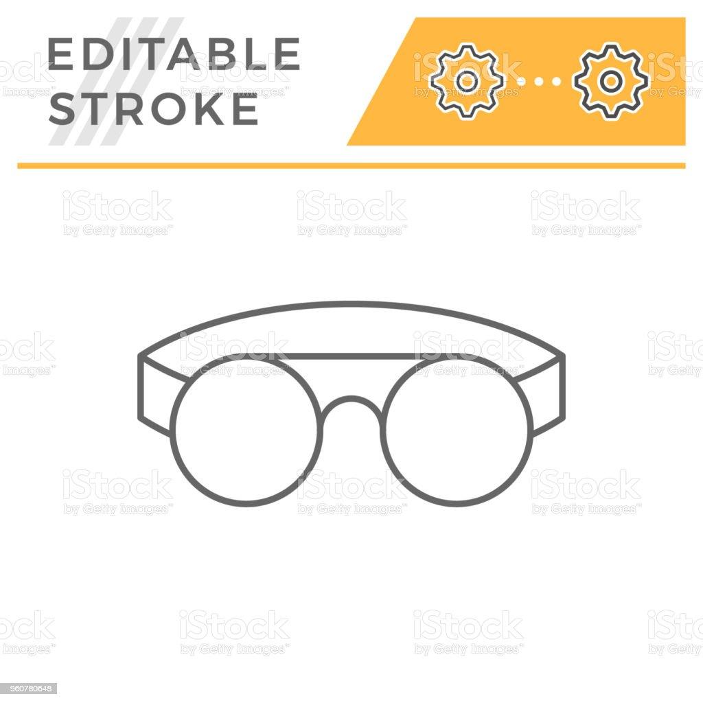 2f449cf28e0431 icône Lunettes de protection soudure ligne icône lunettes de protection  soudure ligne – cliparts vectoriels et