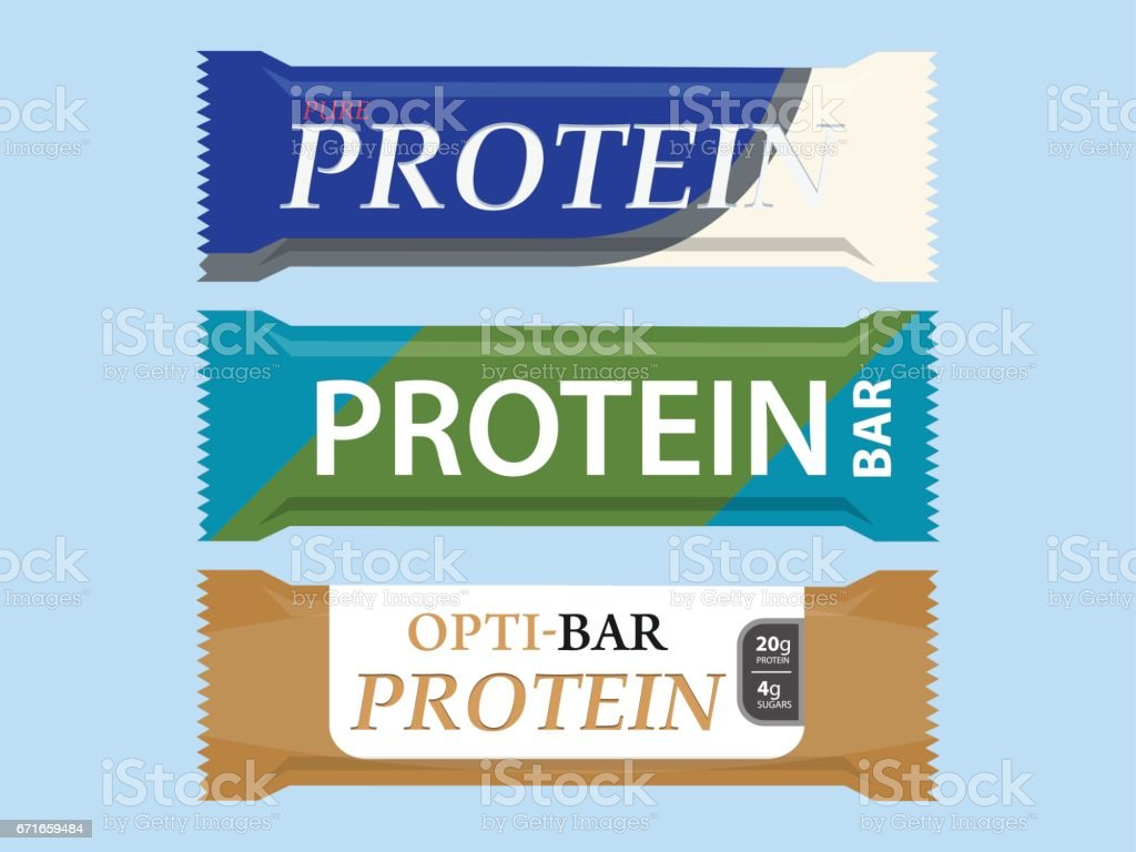 Protein Bar Set Icon vector art illustration