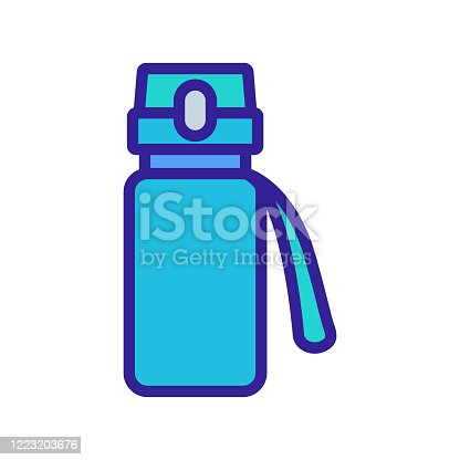protein sports shaker with clevis icon vector. protein sports shaker with clevis sign. color symbol illustration