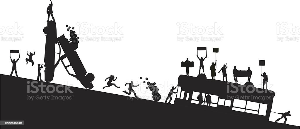 Protest and Destruction royalty-free stock vector art