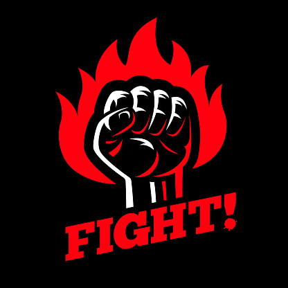 Protest And Fight Strike Poster Symbol Concept Stock ...
