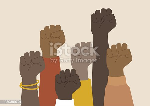 protest, clenched fists, African American community activism