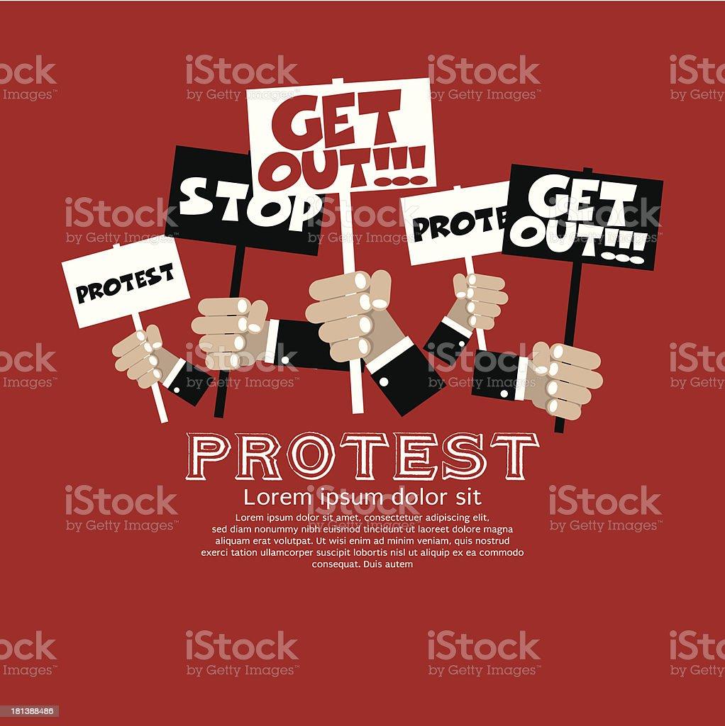 Protest Concept. vector art illustration