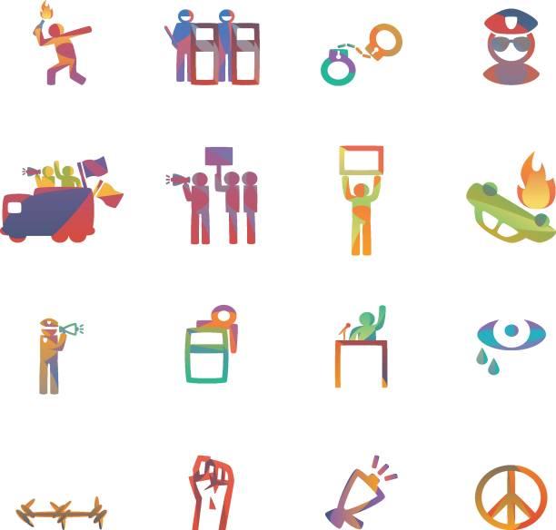 ilustrações de stock, clip art, desenhos animados e ícones de protest - greve