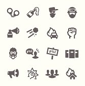 Protesters icons