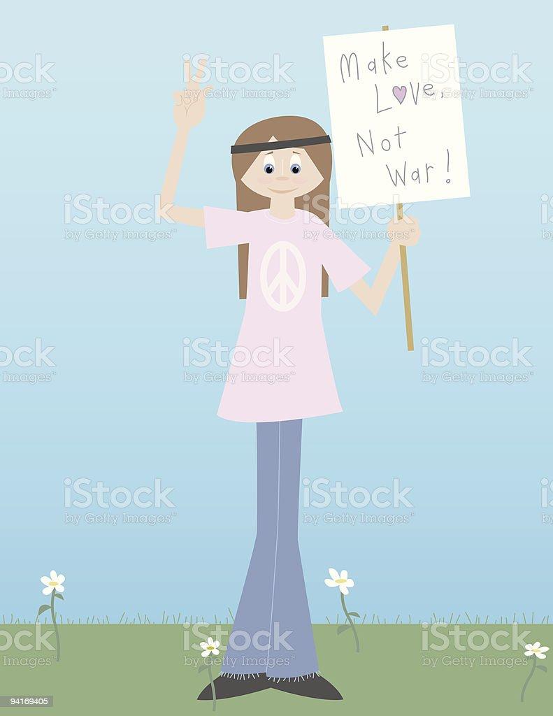 Protestor vector art illustration