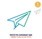 istock Prototype Experiment Continuous Line Editable Icon 1250123148
