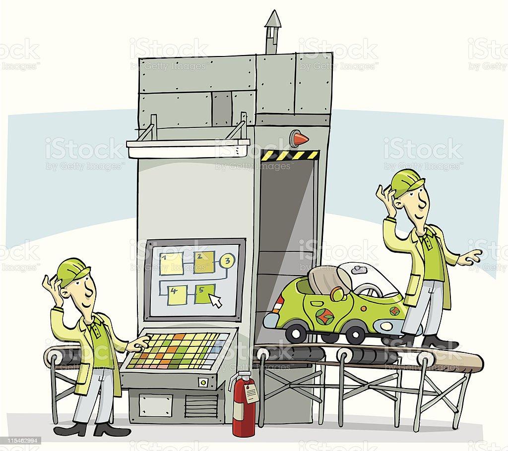Prototype machine vector art illustration