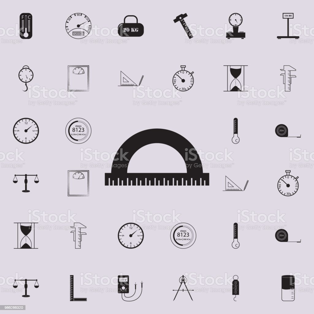 winkelmessersymbol detaillierten satz messen elemente symbole