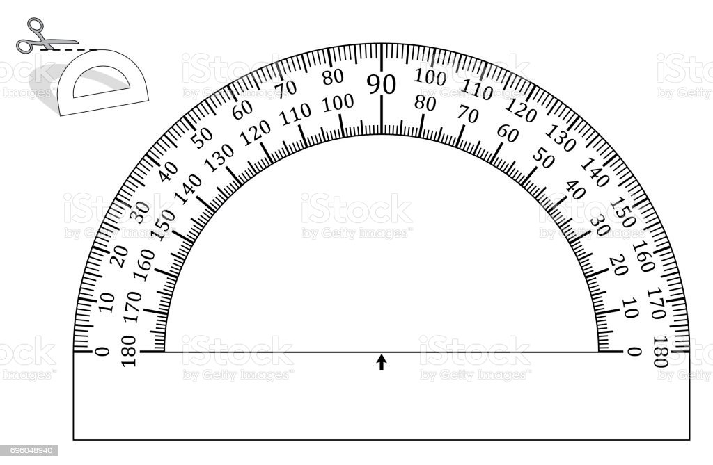 how to make a protractor out of paper
