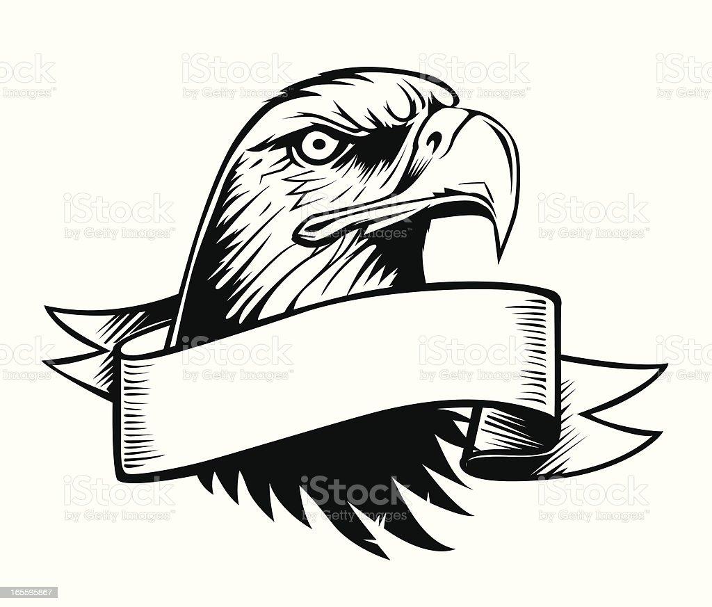 Proud Eagle And Vintage Banner Stock Illustration ...