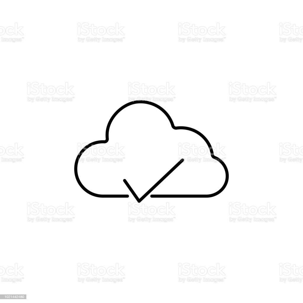 Ilustración De Icono De La Nube Probada Elemento De Simple