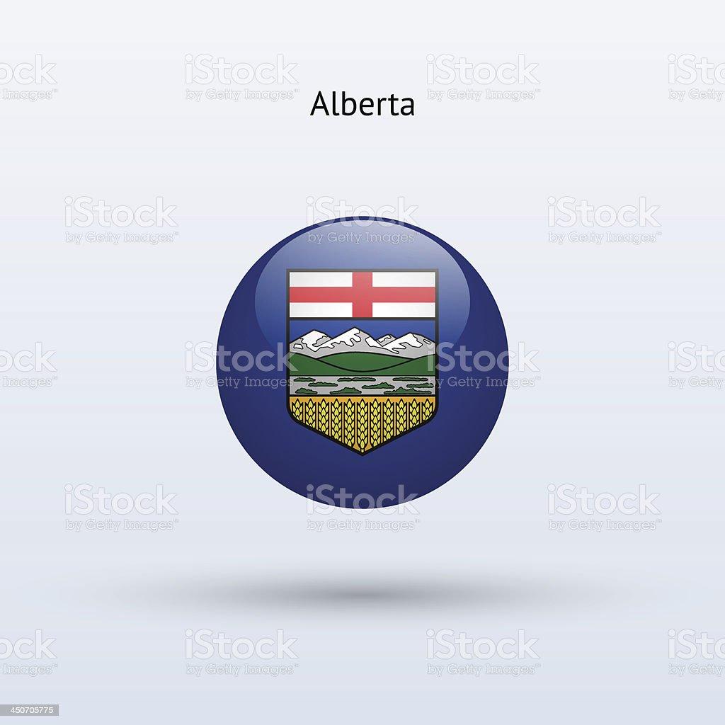 Province of Alberta Flag (Canada) royalty-free stock vector art