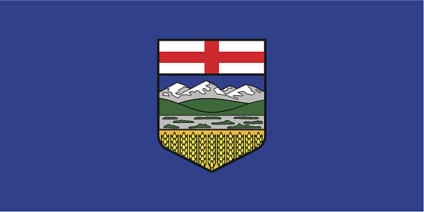 Province of Alberta (Canada) vector art illustration