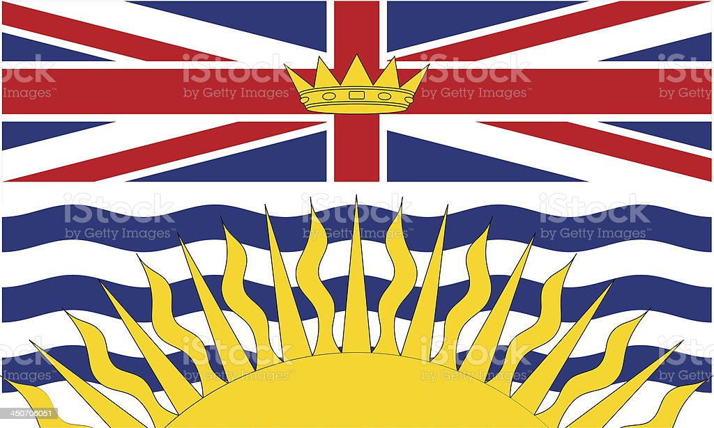 Province of British Columbia (Canada) vector art illustration