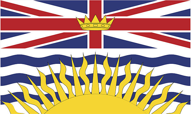 Province of British Columbia (Canada) vector art illustration