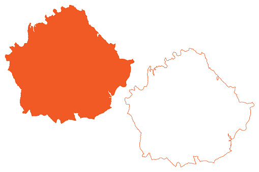 Province of Cuenca (Kingdom of Spain, Autonomous Community CastillaLa Mancha or Castile La Mancha) map vector illustration, scribble sketch Cuenca map