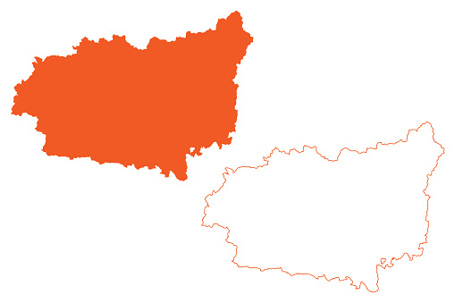 Province of Leon (Kingdom of Spain, Autonomous Community Castile and Leon) map vector illustration, scribble sketch Leon map