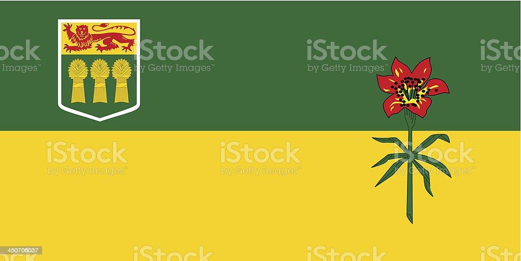 Province of Saskatchewan (Canada) royalty-free stock vector art