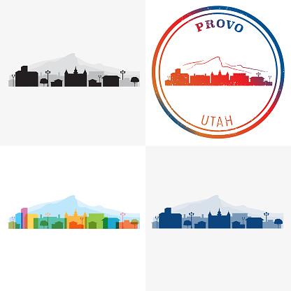 Provo Utah City Graphics