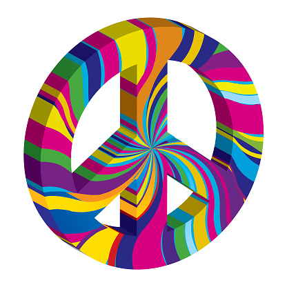 Psychedelic 3D Peace Sign