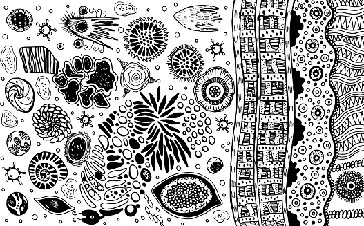 Psychedelic Abstract Ink Abstract Sketch Surreal Weird Line