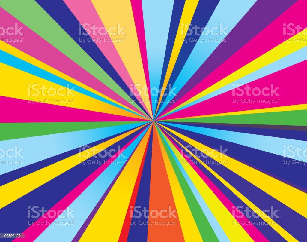 Psychedelic Burst Background vector art illustration