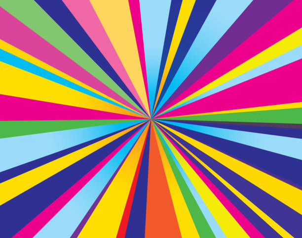 psychedelic burst background - 1960s style stock illustrations, clip art, cartoons, & icons