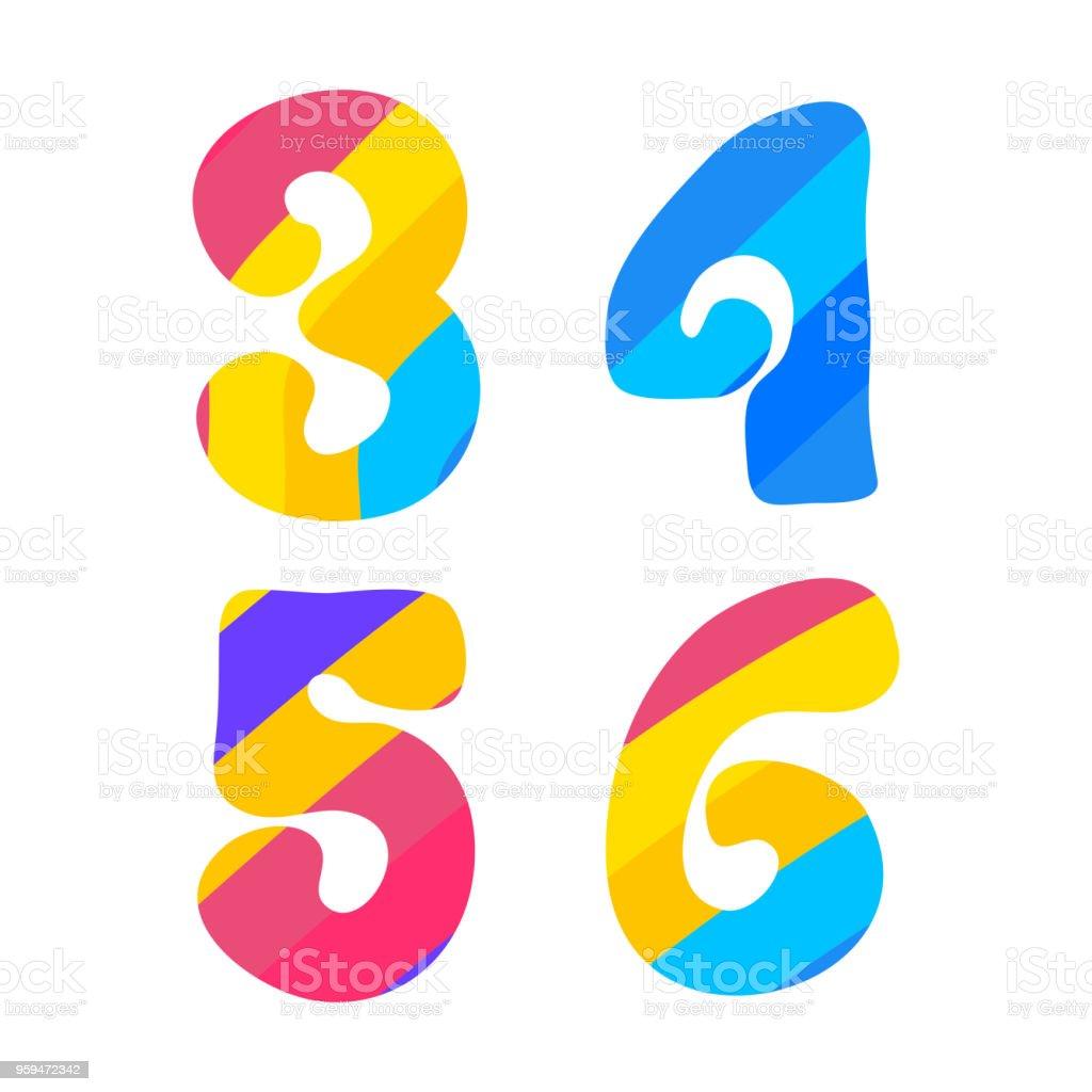 Alphabet Psychédélique polices psychédélique avec motif coloré lettres de hippie vintage 3