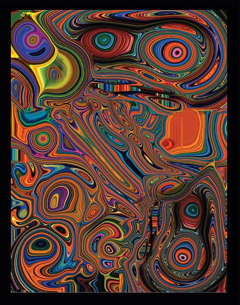 Psychedelic Liquid Background Vector illustration of a Psychedelic Liquid Background. acid stock illustrations